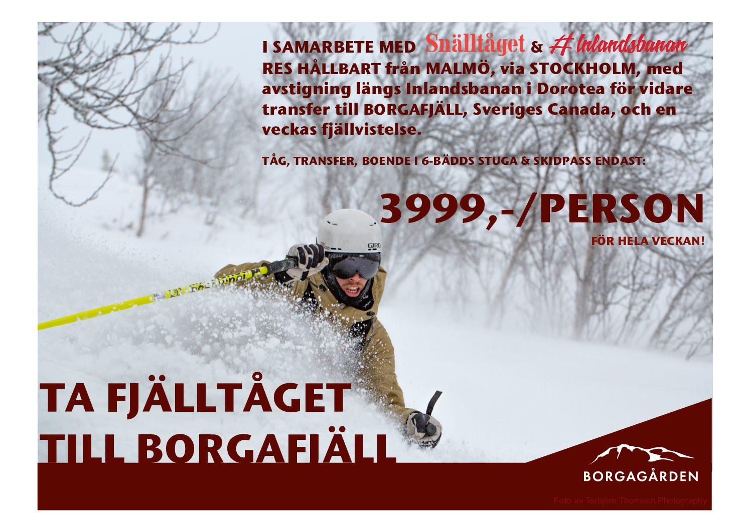Ta Fjälltåget till Borgafjäll!